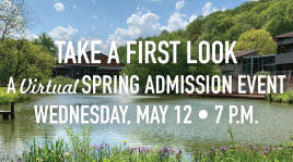 Image: Take a First Look — A *Virtual* Spring Admission Event